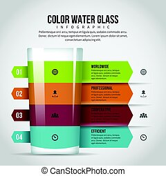 Color Water Glass Infographic