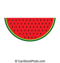 Color Watermelon icon isolated on background. Modern flat pictogram, business, marketing, internet concept. Trendy Simple vector symbol for web site design or button to mobile app. Logo illustration.