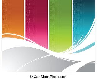 Color wave Background