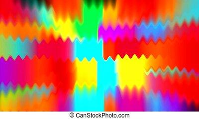 color waveform, light rays