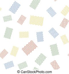 Color Waves icon isolated seamless pattern on white background. Vector