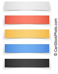 Color Web Banners with Shadow