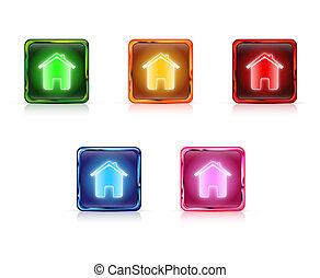 Color web buttons home