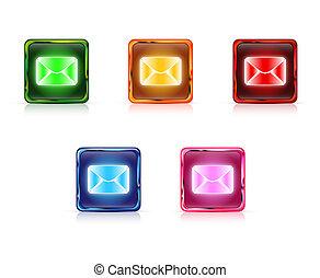 Color web buttons Post