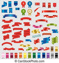 Color Web Ribbons Big Set