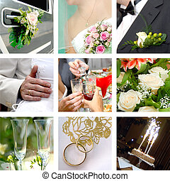 Color wedding photo set