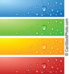 Wet surfaces. - Color Wet surfaces. Vector illustration.