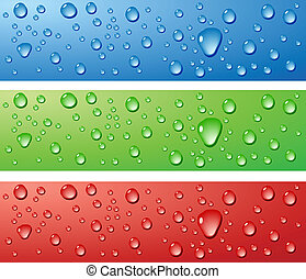 Wet surfaces. - Color Wet surfaces. Vector illustration.