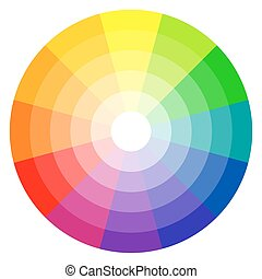color wheel 12-colors - illustration of printing color wheel...