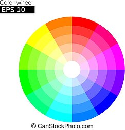 Color wheel 12 colors vector with 20 percent step