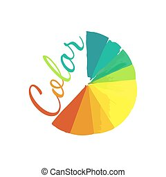 Color Wheel Circular Palette With Vibrant Vivid Colors