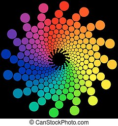 Color Wheel - Color wheel or color circle isolated on black...