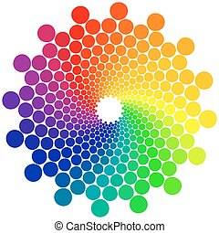 Color Wheel - Color wheel or color circle isolated on white...