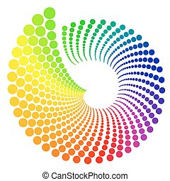 Color Wheel - Color wheel shaped like shell, isolated on...