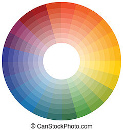 Color Wheel - An image of a color wheel.