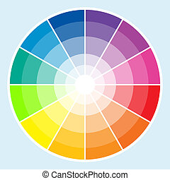 Color Wheel - Light - Classic color wheel with the colors ...