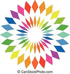 Color wheel palette - round spectrum swatch