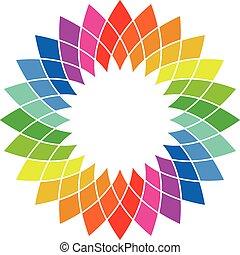 Color wheel - spectrum swatch palette