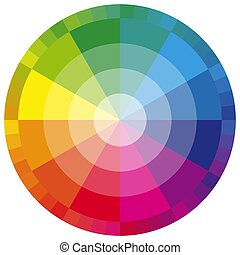 color wheel twelve colors