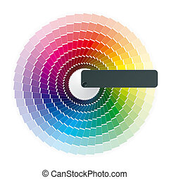 Vector illustration of a color wheel