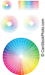 Color wheel. Vector illustration set. EPS v 8.