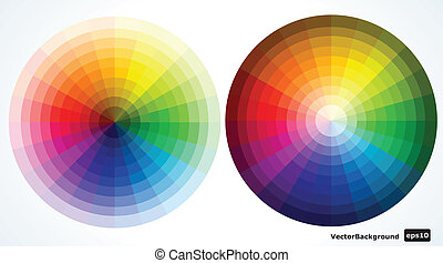 Color wheels. Vector illustration