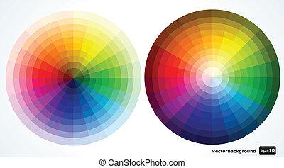 Color wheels. Vector illustration