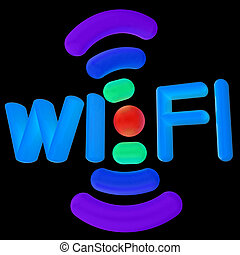 color wifi icon. 3d illustration