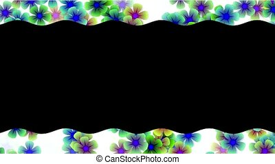 color wild flower lace pattern