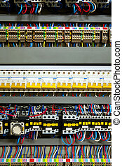 Color wires in a box