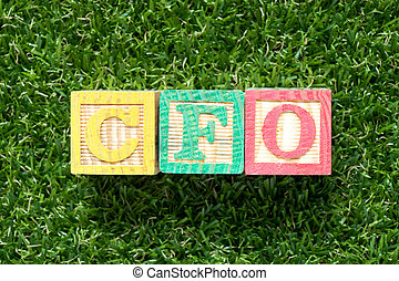 Color wood block in word CFO (Abbreviation of Chief...