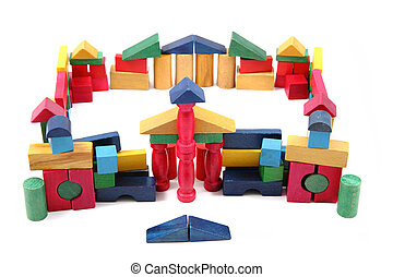 color wooden blocks