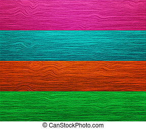 Color Wooden Boards Background