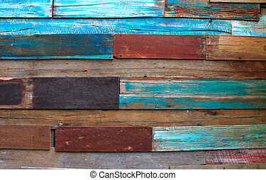 Color Wooden Wall Background