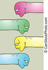 Color worm - Creative design of color worm