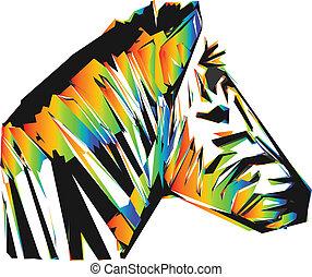color zebra head