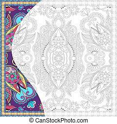 coloração, adultos, livro, quadrado, original, página