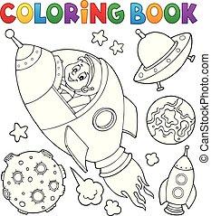coloração, cobrança, espaço, livro, topic, 1