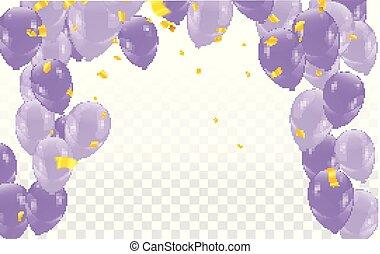 colora experiência, balões, lustroso, ilustração