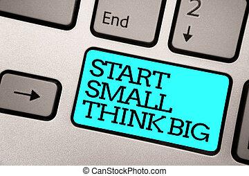 colora fotografia, mente, sinal, computador, algo, ter, teclado, azul, início, coisas, poucos, escrito, pretas, texto, conceitual, mostrando, text., prata, grande, botão, cinzento, inicie, big., pequeno, pensar