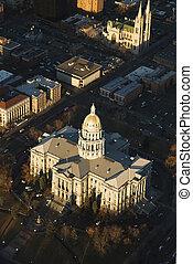 colorado., 州, デンバー, 国会議事堂の 建物