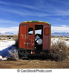 colorado., 田園, トラック, 捨てられた, 雪が多い