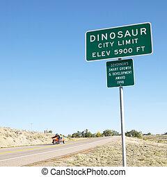 colorado., 都市, 恐竜