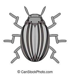 Colorado beetle icon, cartoon style