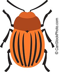 Colorado beetle icon, flat style