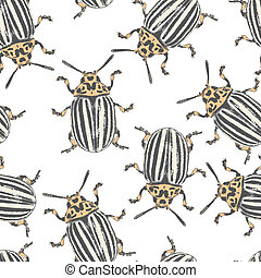 Colorado beetles vector texture