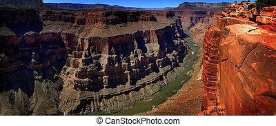 colorado, canyon, grande, punto di riferimento, gola, fiume