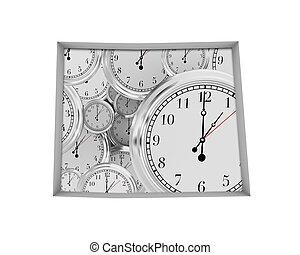 Colorado CO Clock Time Passing Forward Future 3d Illustration