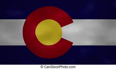 Colorado US dense flag fabric wavers, perfect loop for background