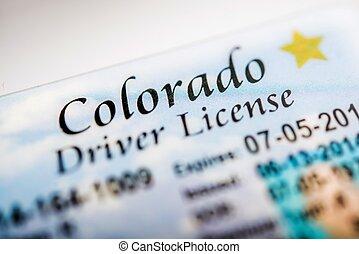 Colorado Driver License Closeup Photo. Colorado ...